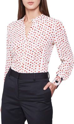 Women's Clothing Clearance Nordstrom Beauty, Prom Looks, Reiss, Mandarin Collar, Men Looks, Abstract Pattern, Looking For Women, Night Out, Contrast
