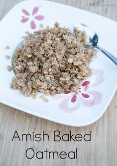 Amish Baked Oatmeal Recipe includes gluten free variation | 5DollarDinners.com