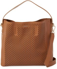 a43fdcc4c19a Furla Women s Capriccio Laser-Cut Leather Hobo.  leatherbags  totebags  bags   shoulderbag