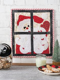Christmas & Winter Quilt Patterns - Santa Baby Wall Hanging Pattern Farm Quilt Patterns, Tree Quilt Pattern, Christmas Quilt Patterns, Christmas Sewing, Quilting Patterns, Christmas Crafts, Winter Quilts, Fall Quilts, Optical Illusion Quilts