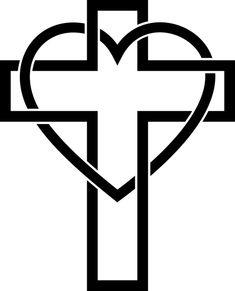 Free Image on Pixabay - Cross, Jesus, Heart, Catholic Cross Heart Tattoos, Cross Drawing, Cross Pictures, Religion, Christian Symbols, Jesus On The Cross, Public Domain, Geometric Shapes, Free Images