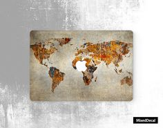 Macbook decal sticker Map Macbook pro decal sticker-macbook air sticker Apple macbook air decal keyboard decal by MixedDecal on Etsy