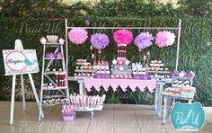 Paal Uh.  Mesa de Postres : Snack's : dulces : botanas : candy bar : Sweet : Shower :  dessert table : decor : celebración : party : vintage : bird cute: pajaritos : Rosa: pink: baby girl: snacks: