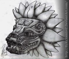 Pectoral piece, Feathered Serpent sculpture at Teotihuacan (Mesoamerica) Rn Tattoo, Arrow Tattoo, Clown Tattoo, Samoan Tattoo, Tattoo Ink, Mayan Tattoos, Mexican Art Tattoos, Indian Tattoos, Polynesian Tattoos
