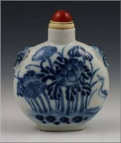 Signed Chinese Porcelain Snuff Bottle