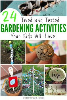 24 super fun gardening activities for kids with tried and tested ideas for things to grow or make for the garden with inspiration you'll love.