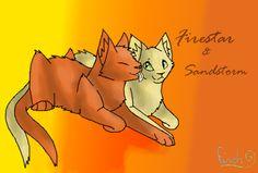 warrior cats firestar | Firestar x Sandstorm by =Finchwing on deviantART