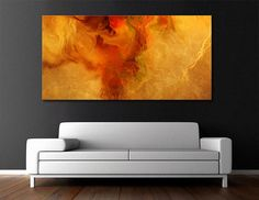 """Warm Embrace"" Large Abstract Art Canvas Print by Jaison Cianelli"