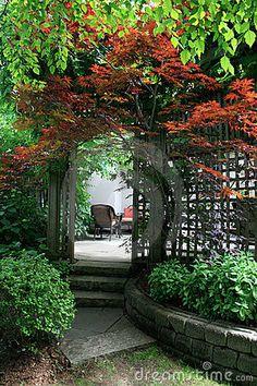 Entrance To Patio Stock Photos - Image: 14868283