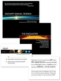 Space themed Bar Mitzvah invitation I designed c.2006