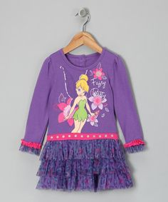 Take a look at this Purple Tinker Bell 'Fairy Pretty' Ruffle Dress - Toddler by Disney on #zulily today!