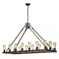 Rectangular Chandelier 49*16*28 - Lighting - Products