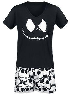 The Nightmare Before Christmas Jack Skellington Pyjama black S