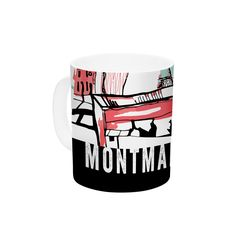 "Theresa Giolzetti ""Montmartre"" Teal Ceramic Coffee Mug"