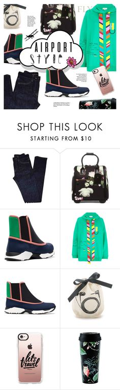 """""""Irony of travel"""" by edita1 ❤ liked on Polyvore featuring Yves Saint Laurent, Ted Baker, Marni, Mira Mikati, Nuage, Bag-All, Casetify, Kate Spade and airportstyle"""