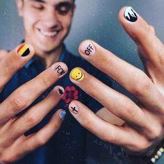 Mens Nails, Short Nail Manicure, Short Nails Art, Nail Patterns, Minimalist Nails, Easy Nail Art, Nail Inspo, Nails Inspiration, Beauty Nails