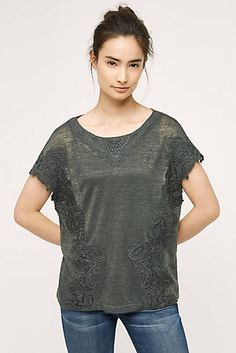 Shop new women's clothing at Anthropologie to discover your next favorite closet staple. Check back frequently for the latest clothing arrivals! Outfits 2016, Fall Outfits, Lace Tee, White Tees, Autumn Winter Fashion, Anthropologie, T Shirts For Women, My Style, Clothes