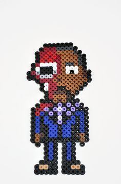 Breaking Bad Gus magnet perler beads by TheCraftyChimera