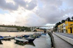 marina and Arrábida Bridge, Porto, Portugal