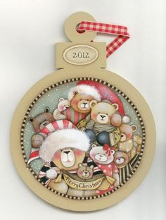Lynne Andrews Beary Christmas Ornament Pattern Packet