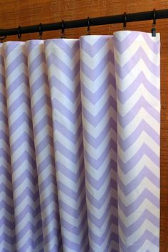 curtains window treatments nursery baby room decor curtain panels zigzag chevron wisteria purple white shown - Blackout Shades For Baby Room