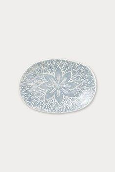 Viva by Vietri Lace Small Oval Platter