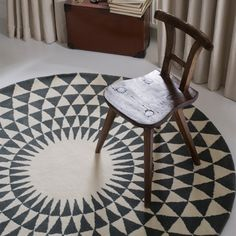 Concentric Rug - circular rug idea for dining area