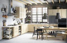 Uma cozinha espaçosa para toda a família.  #cozinhas #decoração #IKEAPortugal