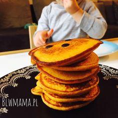 Placki dyniowo – bananowe. Pieczone lub z patelni. BLW – BLW od kuchni. Rozwój dziecka przez jedzenie.