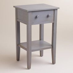 Tobacco Blue Sara Nightstand: Blue/Gray - Wood by World Market Overall: x x 19 lbs. Space Furniture, Bedroom Furniture, Home Furniture, Bedroom Decor, Furniture Ideas, Cottage Furniture, Farmhouse Furniture, Bath Decor, Small Nightstand