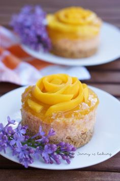 Mango Mousse, Mini Cakes, Cupcake Cakes, Elegante Desserts, Cake Bars, Fabulous Foods, Diy Food, Yummy Cakes, Baking Recipes