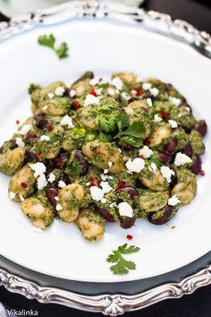 Cilantro Pesto Bean Salad with Goat's Cheese