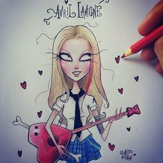 Hey hey you you... I know that you like me! No it's not a secret... I want be your girlfriend @avrillavigne ✌ #avrillavigne #girlfriend #thebestdamnthing #timburton