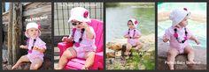 Baby girl sun safe swimwear - pink swimsuit POLKA DOTS!  SO fun!