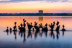 """""""Ich liebe es, an schönen Orten und Landschaften meine Skulpturen zu kreieren"""",..."""
