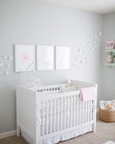love this pretty garden themed nursery image via @emilygeraldphotography