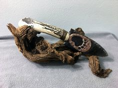 Handmade Rainbow Obsidian Knife w/ Soldered Bear Paw Accent (base included) by SemonesWildArt on Etsy Flint Knives, Obsidian Knife, Bear Paws, Soldering, My Etsy Shop, Carving, Rainbow, Handmade, Base