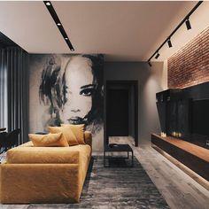 Modern Loft designed by Leonid Sizikov Loft Interior Design, Loft Design, Interior Decorating, House Design, Decorating Tips, Interior Design Yellow, Decorating Websites, Interior Architecture, Apartment Interior