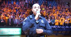 Officer's Last Minute National Anthem Stuns The Crowd - Inspirational Videos