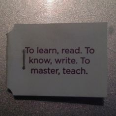 What the education process should be : )