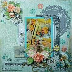 Project by guest designer Linda Pekrul using the October 2014 kit collection, Treasured Yesterdays.   swirlydoos.com