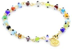 Blee Inara Gold Multi Color Inara Mini Eyes Bracelet Blee Inara. $30.00. Made in Mexico. Hand-crafted, 18k gold-plated, adjustable, verstaile. Featured in Sports Illustrated. Item total weight: 2.76 grams