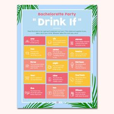 Bachelorette Party Scavenger Hunt, Bachelorette Party Drinks, Bachelorette Party Activities, Beach Bachelorette, Bachelorette Party Invitations, Party Games, Fun Games, Beach Party Favors, Get The Party Started