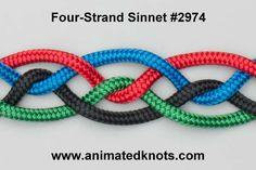 Tutorial on Four Strand Sinnet #2974 Tying