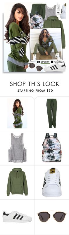 """RickyBrazil.com: Go Sporty!"" by hamaly ❤ liked on Polyvore featuring Vetements, Valentino, adidas, adidas Originals, Christian Dior, ootd, blouse, pants and rickibrazil"