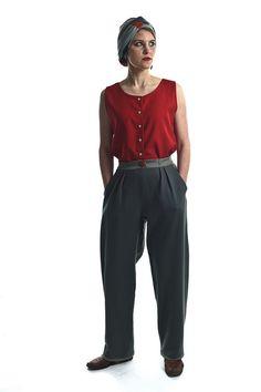 Die StadtSpionin | Modestrecke Linusch Marlene Dietrich Hose, Harem Pants, Fashion, La Mode, Linen Fabric, Cotton, Moda, Harlem Pants, Fasion