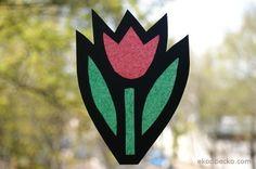tulipan witraż dla dzieci