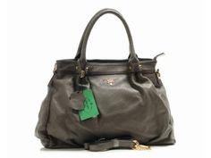 Prada Leather Tote Bag 1266 - Grey