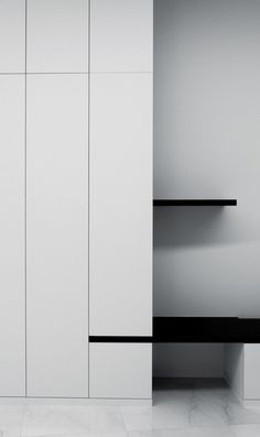 Cupboard detail - Patria Apartments in Kortrijk Belgium by WITBLAD Small Space Interior Design, Interior Design Kitchen, Joinery Details, Built In Cabinets, Cupboards, Home And Deco, Cabinet Design, Interior Inspiration, Design Inspiration