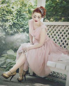 Prom Princess 😇 I totally love that photo by #martinaspoljaricphotography  Wearing #retro #repro #vintage #dress #glamor #glamorous #princessdress #pinkdress from Beau Delicious shop @beaudelicious shop Shoes by @pinupcouture #pinupcouture #pinupstyle #fashion #princess #pearls #redhead #photography #photooftheday #tbt #redhead #love #doll #insta #dreamy
